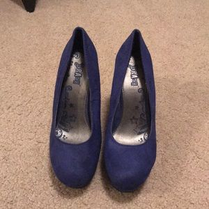 Shoes - Royal Blue Wedges